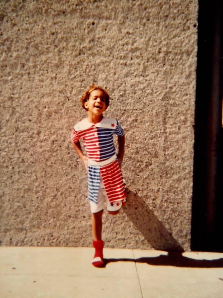 Asia Davis in her childhood